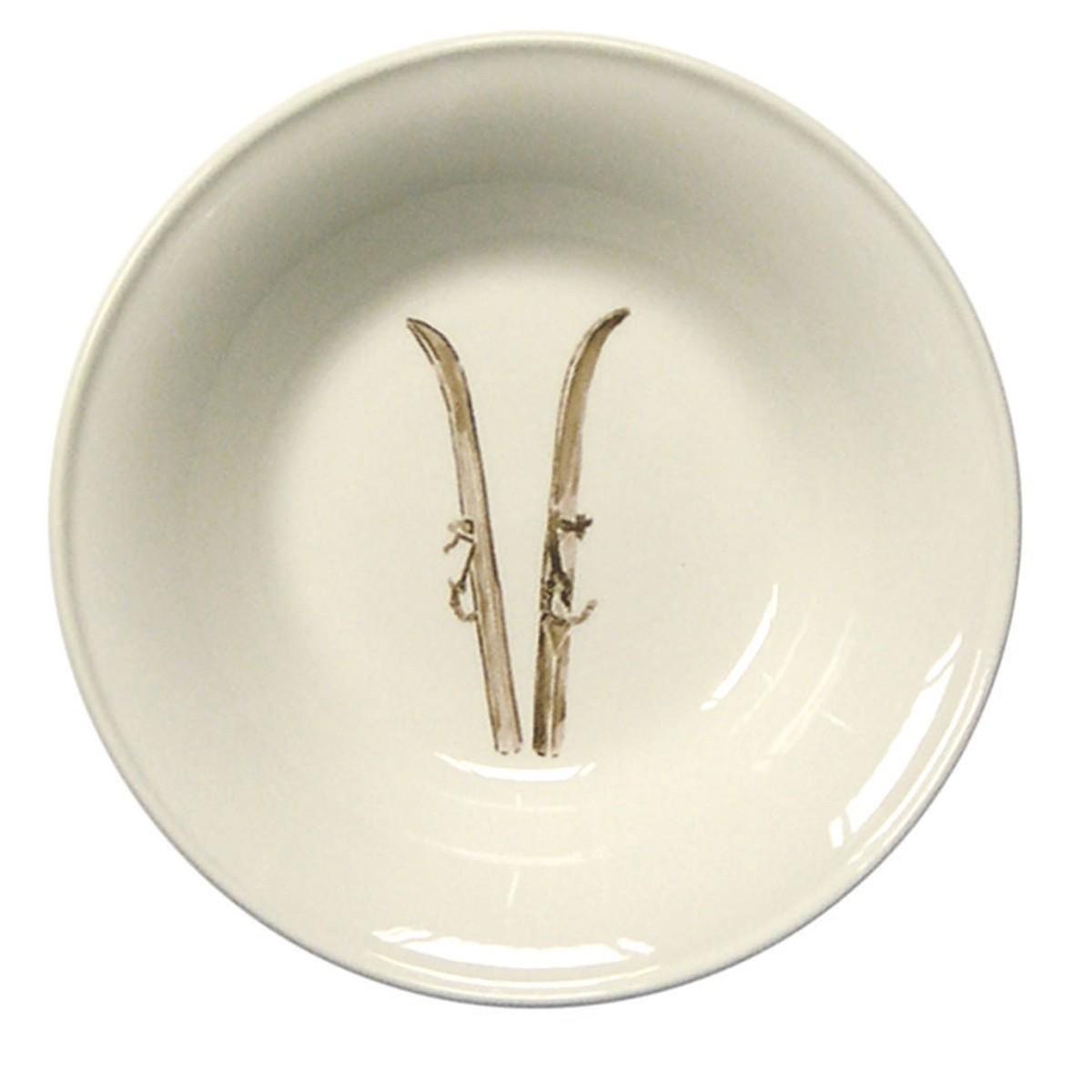 "Chehoma Ascentielle Dinnerware Bowl Large Ski-8""w x 1.68""h"
