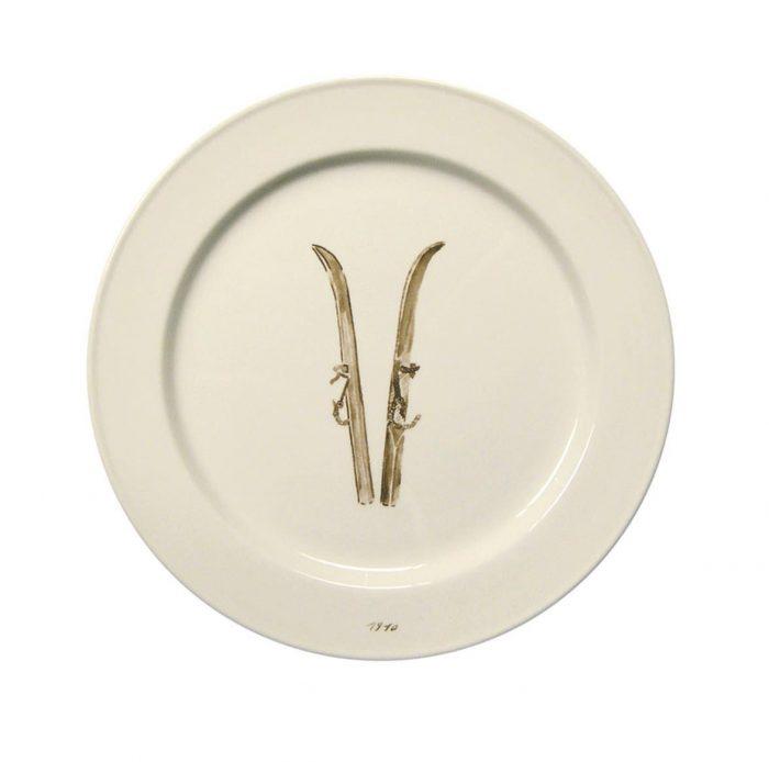 Chehoma Ascentielle Dinnerware Salad or Small Plate Ski-8.39 x .98 h