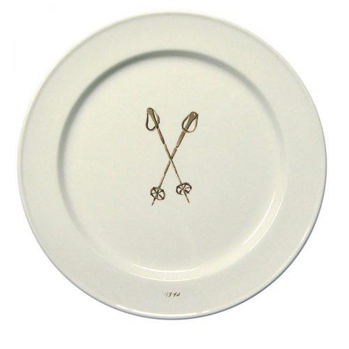 "Chehoma Ascentielle Dinnerware Plate Ski Pole Large-10.75"""