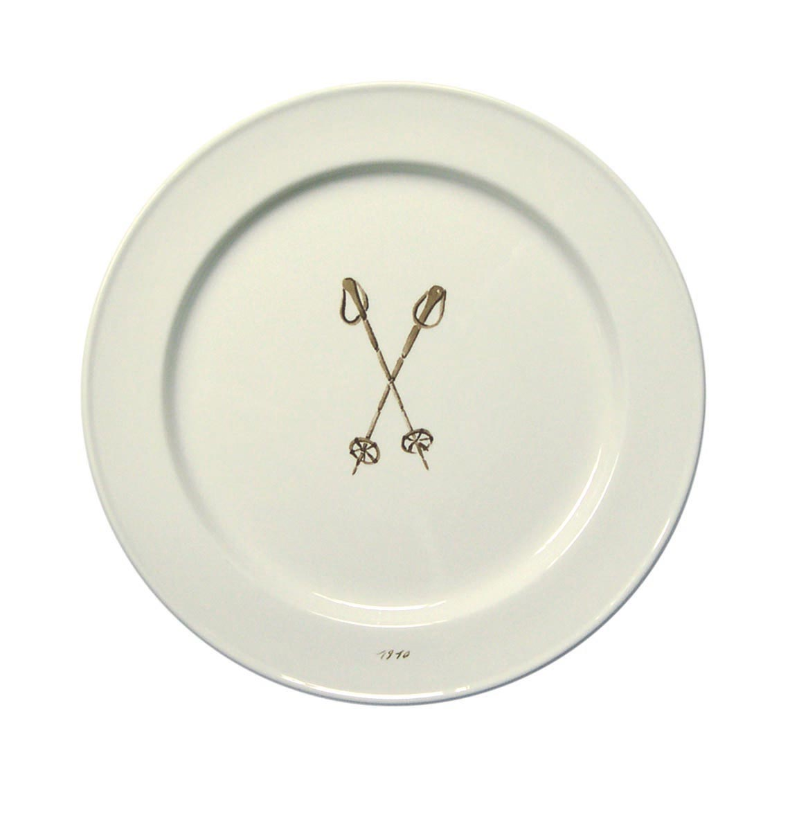 Chehoma Ascentielle Dinnerware Salad or Small Plate Ski Pole-8.39 x .98 h
