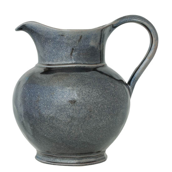 JULISKA PEWTER STONEWARE PITCHER-8""