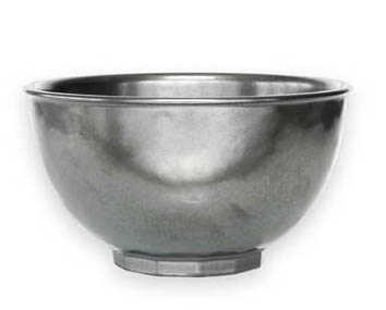 JULISKA PEWTER STONEWARE ROUND CEREAL BOWL(ICE CREAM)