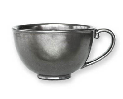 JULISKA PEWTER STONEWARE TEA CUP