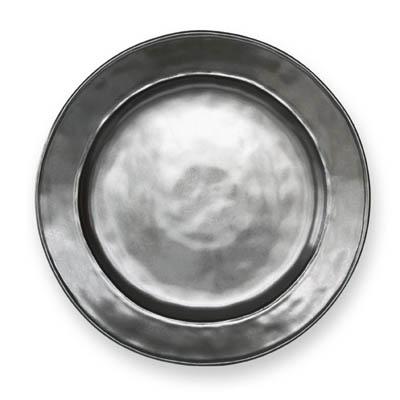 JULISKA PEWTER STONEWARE ROUND DINNER PLATE