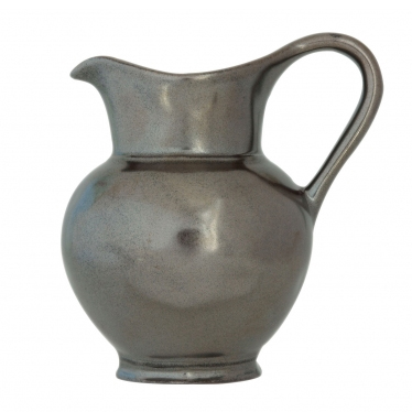 JULISKA PEWTER STONEWARE ROUND PITCHER-4.5""