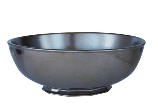 JULISKA PEWTER STONEWARE ROUND SERVING BOWL-10""