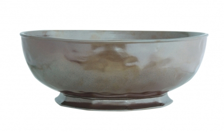 JULISKA PEWTER STONEWARE ROUND SERVING BOWL-14""