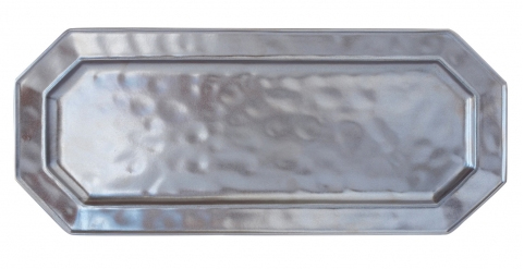 JULISKA PEWTER STONEWARE RECTANGULAR TRAY-18""